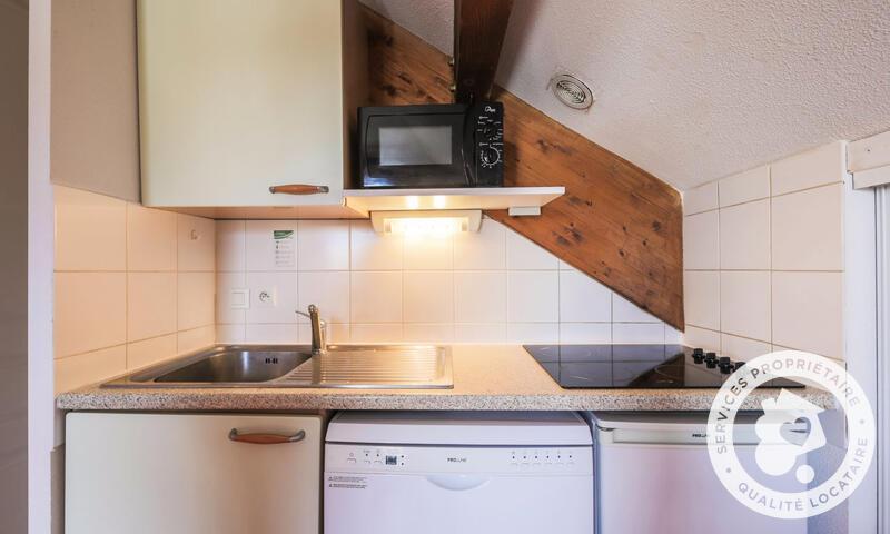 Wakacje w górach Apartament 2 pokojowy 4 osób (Confort 26m²) - Résidence les Chalets D'aurouze - Maeva Home - La Joue du Loup - Aneks kuchenny