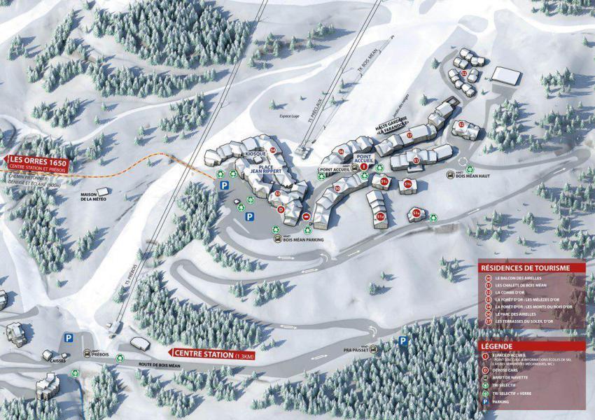 Wakacje w górach Apartament 3 pokojowy z alkową 8 osób (808) - Résidence les Chalets de Bois Méan - Les Orres