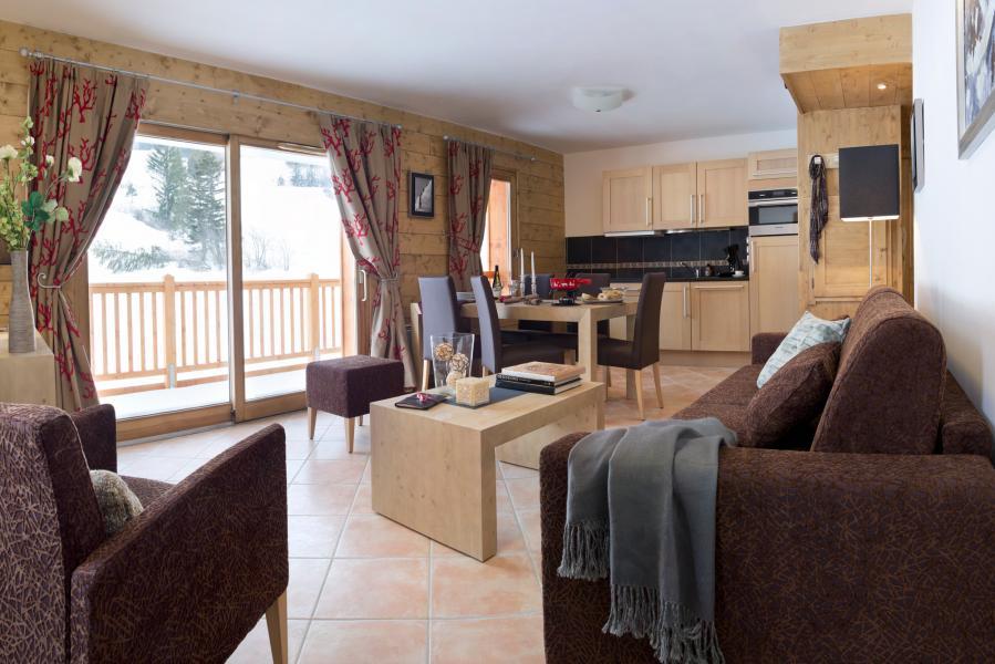 Urlaub in den Bergen Résidence les Chalets de Flambeau - Val Cenis - Wohnzimmer