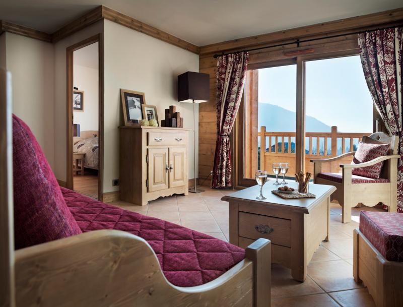 Vakantie in de bergen Résidence les Chalets de Jouvence - Les Carroz - Woonkamer