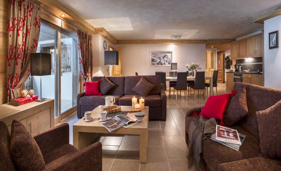 Urlaub in den Bergen Résidence les Chalets de Layssia - Samoëns - Wohnzimmer