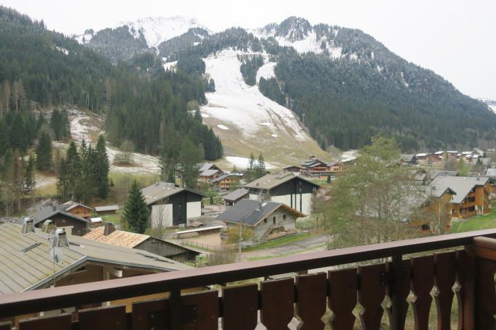 Vacances en montagne Appartement 2 pièces 5 personnes (B24) - Résidence les Chalets de Perthuis - Châtel - Balcon