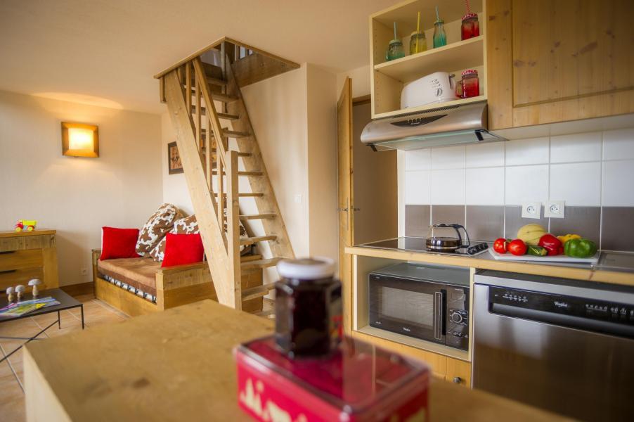 Urlaub in den Bergen Résidence les Chalets de Wengen - Montchavin La Plagne - Küche
