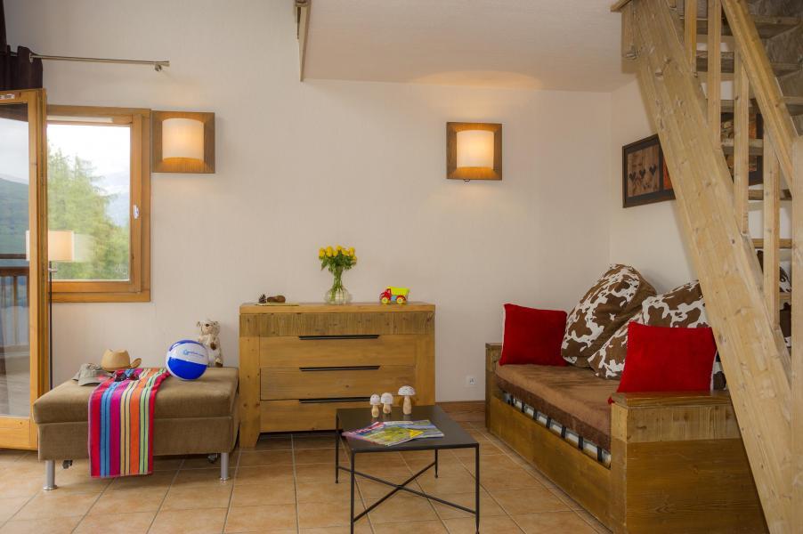Urlaub in den Bergen Résidence les Chalets de Wengen - Montchavin La Plagne - Sofa