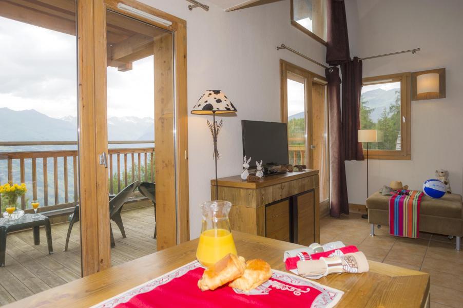Urlaub in den Bergen Résidence les Chalets de Wengen - Montchavin La Plagne - Wohnzimmer