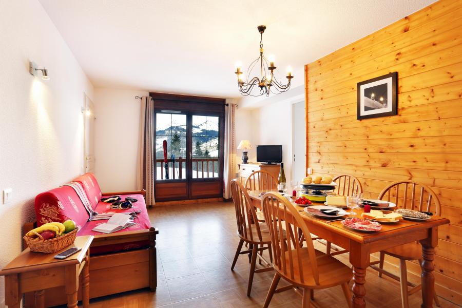Vacances en montagne Residence Les Chalets Des Evettes - Flumet - Banquette-lit