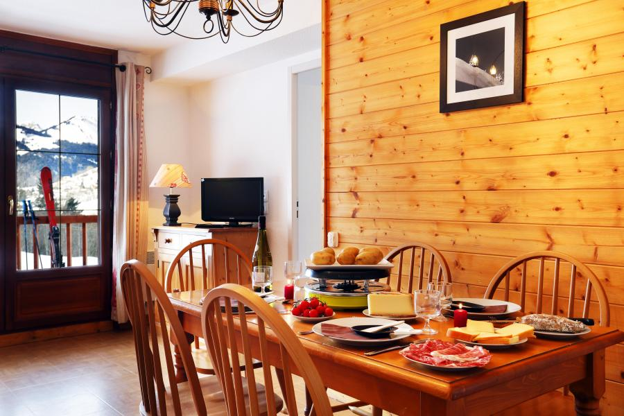 Holiday in mountain resort Résidence les Chalets des Evettes - Flumet - Dining area