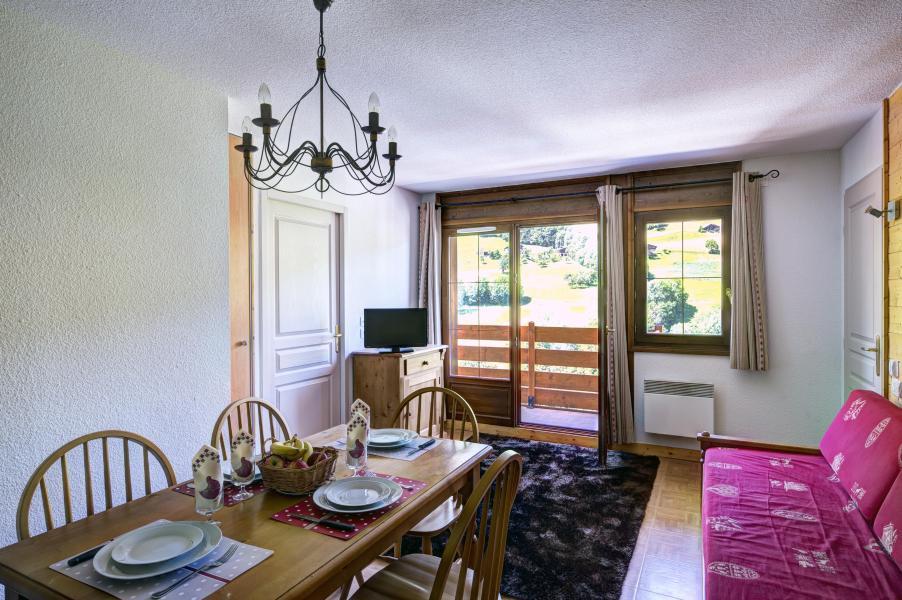 Vacances en montagne Residence Les Chalets Des Evettes - Flumet - Salle à manger