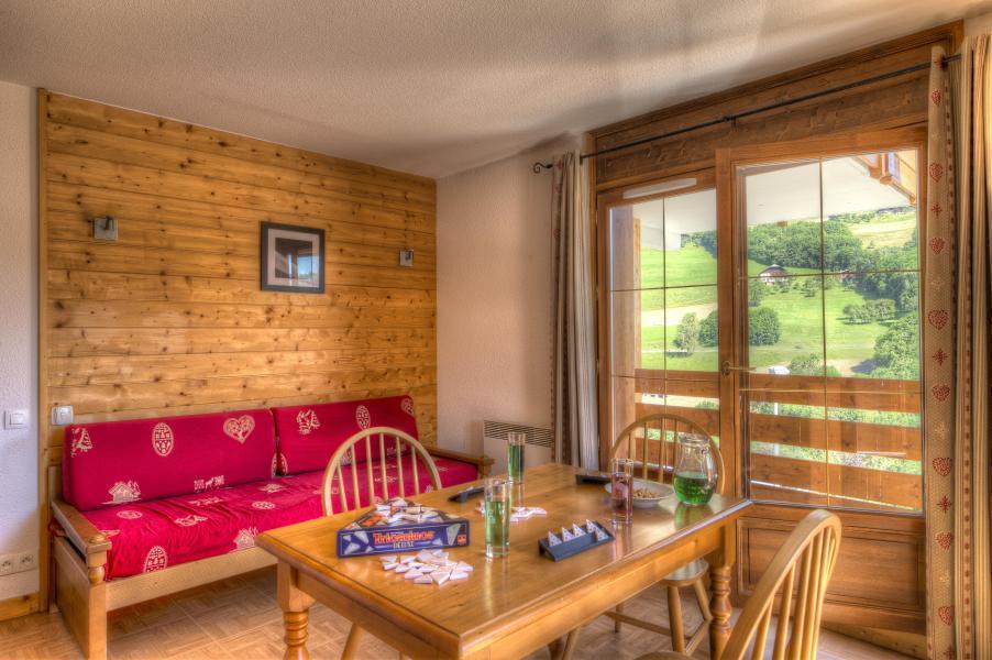 Urlaub in den Bergen Résidence les Chalets des Evettes - Flumet - Sitzbank