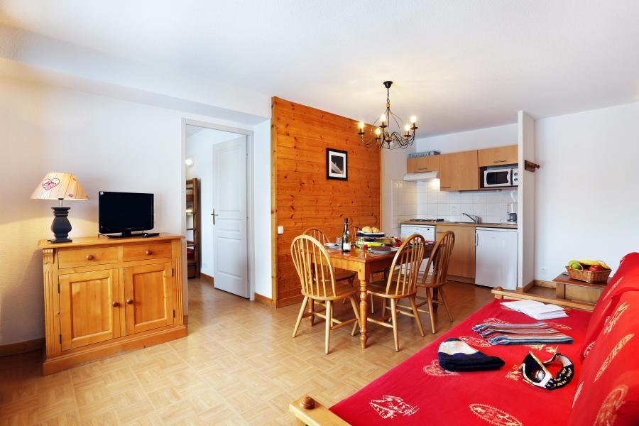Urlaub in den Bergen Résidence les Chalets des Evettes - Flumet - Wohnzimmer