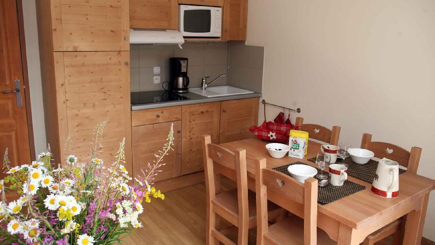 Holiday in mountain resort 2 room apartment 4 people (001) - Résidence les Chalets des Rennes - Vars - Accommodation