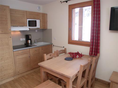 Vakantie in de bergen Appartement 2 kamers 4 personen (001) - Résidence les Chalets des Rennes - Vars - Keukenblok