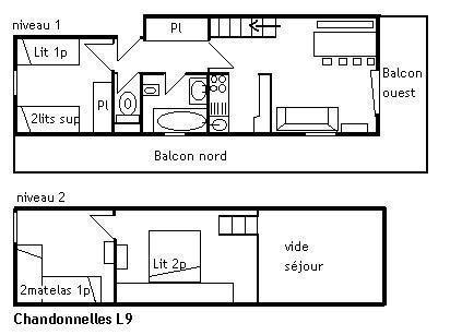 Holiday in mountain resort 2 room duplex apartment 5-7 people (L9) - Résidence les Chandonnelles I - Méribel - Accommodation