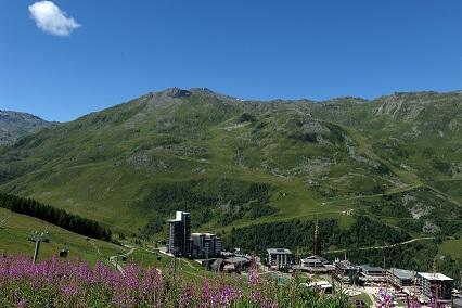 Vacances en montagne Résidence les Charmettes - Les Menuires - Extérieur été