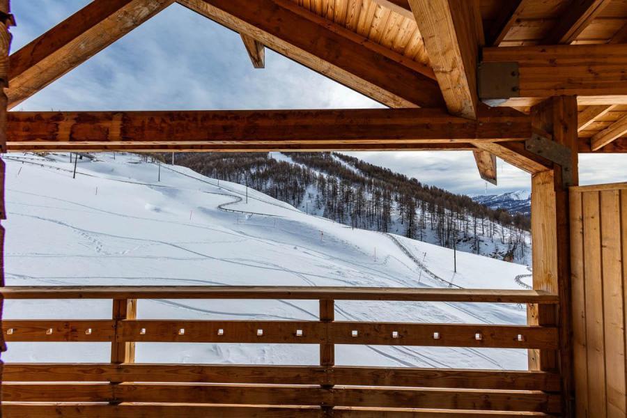 Urlaub in den Bergen Résidence les Cimes du Val d'Allos - Val d'Allos - Balkon