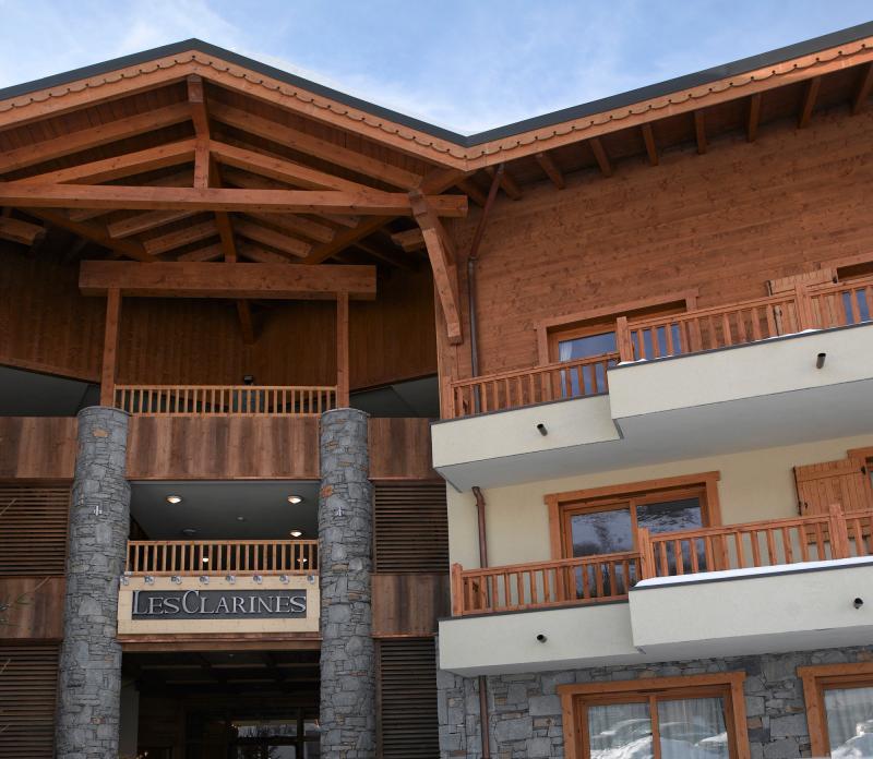 Location au ski Residence Les Clarines - Les Menuires - Extérieur été