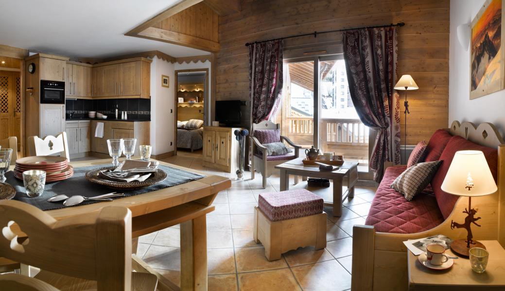 Urlaub in den Bergen Résidence les Clarines - Les Menuires - Wohnzimmer