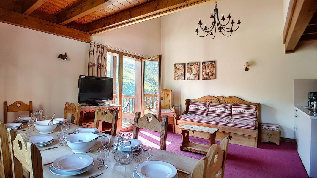 Holiday in mountain resort 4 room duplex apartment 10 people (8) - Résidence les Cristaux - Les Menuires