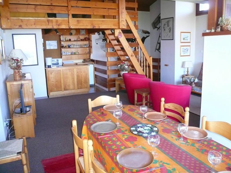 Wakacje w górach Apartament 2 pokojowy z antresolą 7 osób (51) - Résidence les Cristaux du Haut - Combloux - Pokój gościnny
