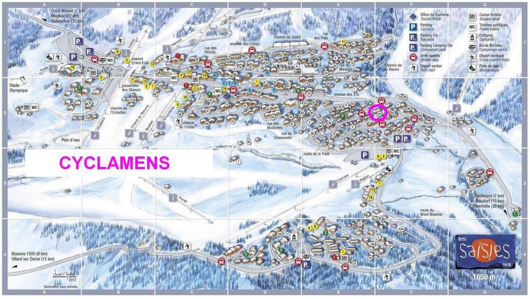 Vacaciones en montaña Résidence les Cyclamens - Les Saisies - Plano