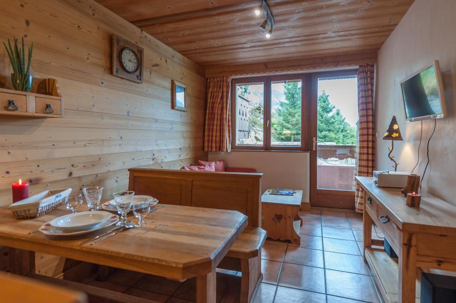 Holiday in mountain resort 3 room apartment 4 people - Résidence les Edelweiss - Champagny-en-Vanoise - Living room