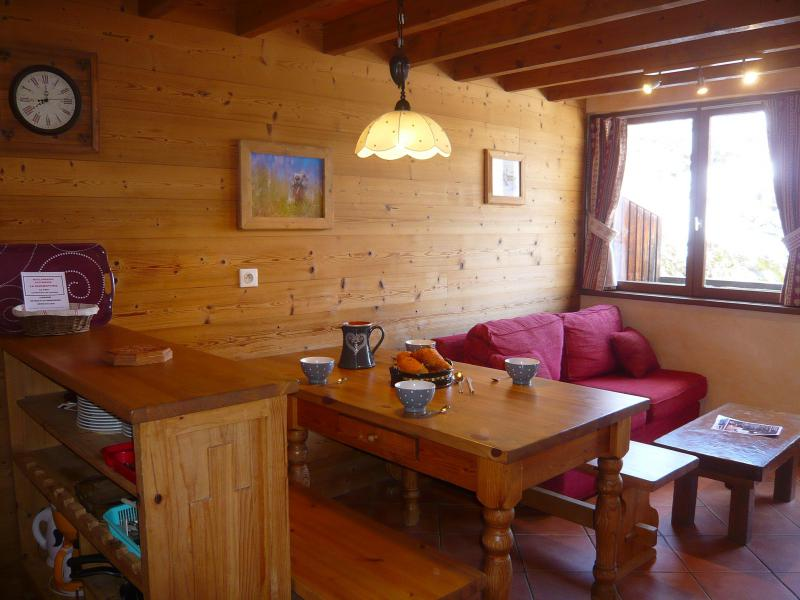 Holiday in mountain resort 3 room apartment 5 people - Résidence les Edelweiss - Champagny-en-Vanoise - Living room