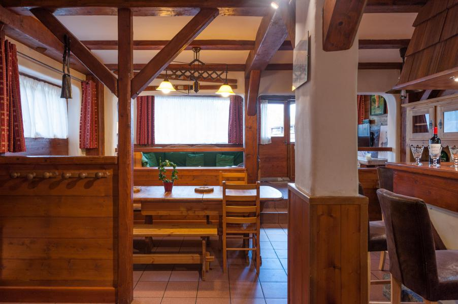 Holiday in mountain resort 3 room mezzanine semi-detached chalet 6-8 people - Résidence les Edelweiss - Champagny-en-Vanoise - Dining area