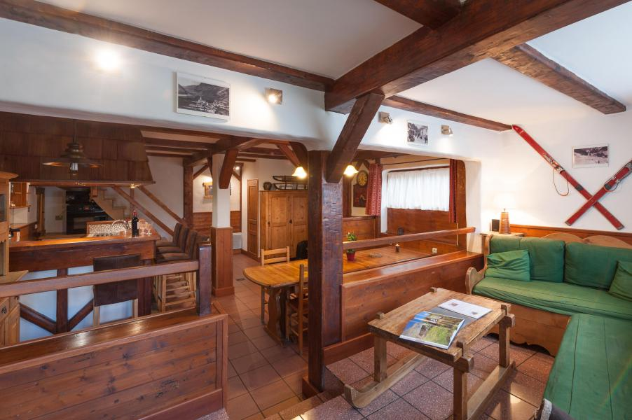 Holiday in mountain resort 3 room mezzanine semi-detached chalet 6-8 people - Résidence les Edelweiss - Champagny-en-Vanoise - Living room