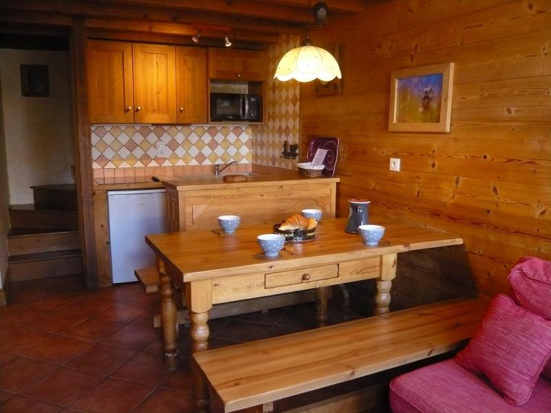 Vacances en montagne Appartement 3 pièces 5 personnes - Résidence les Edelweiss - Champagny-en-Vanoise - Salle à manger