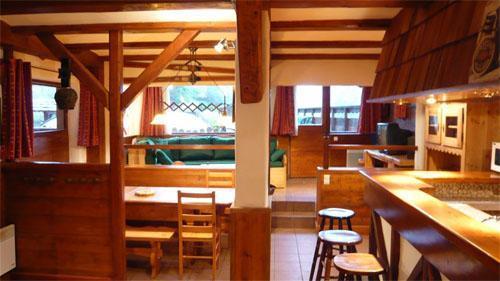 Vacances en montagne Chalet mitoyen 3 pièces mezzanine 6-8 personnes - Résidence les Edelweiss - Champagny-en-Vanoise - Cuisine ouverte