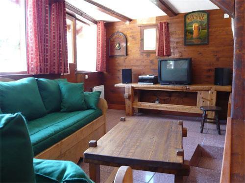 Vacances en montagne Chalet mitoyen 3 pièces mezzanine 6-8 personnes - Résidence les Edelweiss - Champagny-en-Vanoise - Séjour
