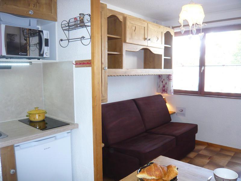 Vakantie in de bergen Studio 2 personen - Résidence les Edelweiss - Champagny-en-Vanoise - Woonkamer