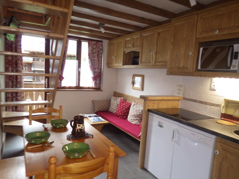 Holiday in mountain resort Studio 3 people (confort) - Résidence les Edelweiss - Champagny-en-Vanoise - Open-plan kitchen