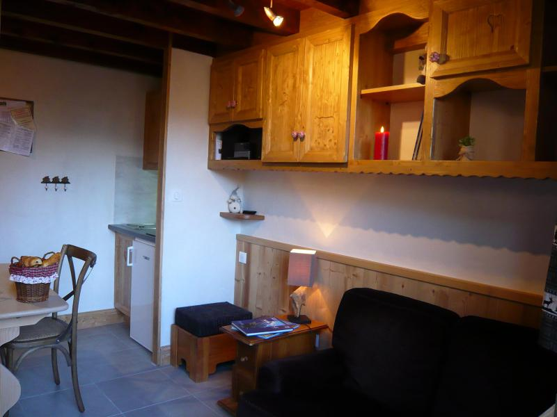 Holiday in mountain resort Studio 3 people (standard) - Résidence les Edelweiss - Champagny-en-Vanoise - Living room