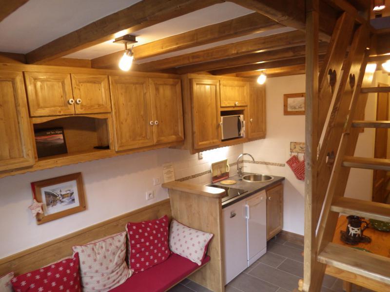 Vakantie in de bergen Studio 3 personen (confort) - Résidence les Edelweiss - Champagny-en-Vanoise - Keukenblok