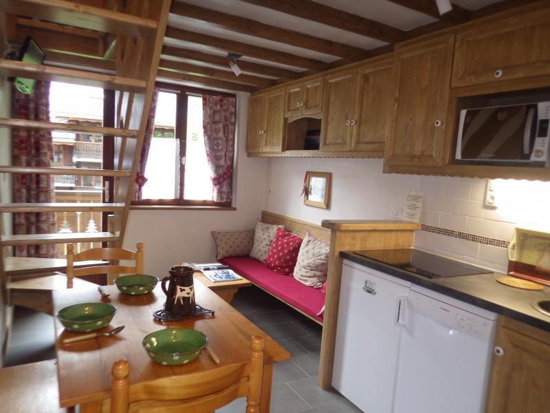 Vakantie in de bergen Studio 3 personen (confort) - Résidence les Edelweiss - Champagny-en-Vanoise - Open keuken