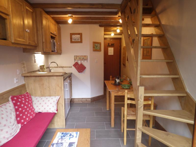 Vakantie in de bergen Studio 3 personen (confort) - Résidence les Edelweiss - Champagny-en-Vanoise - Woonkamer