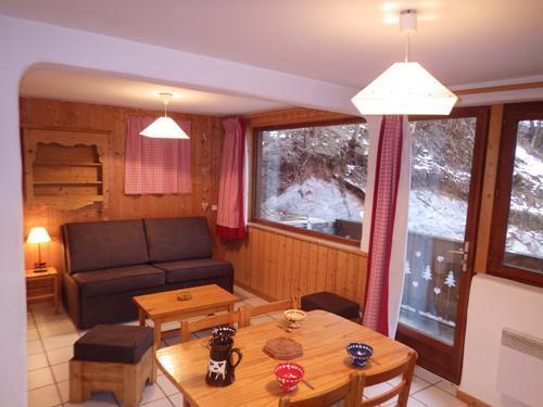 Holiday in mountain resort Studio 4 people - Résidence les Edelweiss - Champagny-en-Vanoise - Living room
