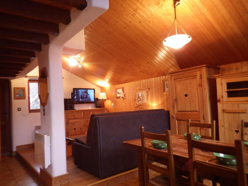 Vakantie in de bergen Studio mezzanine 4 personen - Résidence les Edelweiss - Champagny-en-Vanoise - Woonkamer