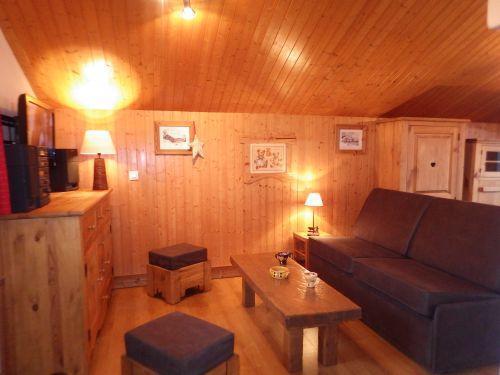 Vacances en montagne Studio mezzanine 4 personnes - Résidence les Edelweiss - Champagny-en-Vanoise - Canapé