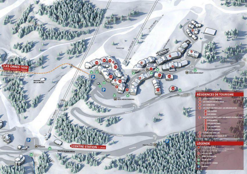 Vacances en montagne Appartement 2 pièces 6 personnes (813) - Résidence les Eglantines - Les Orres - Plan