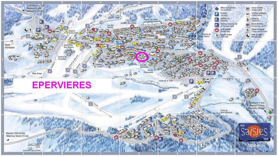 Vacaciones en montaña Résidence les Epervières - Les Saisies - Plano