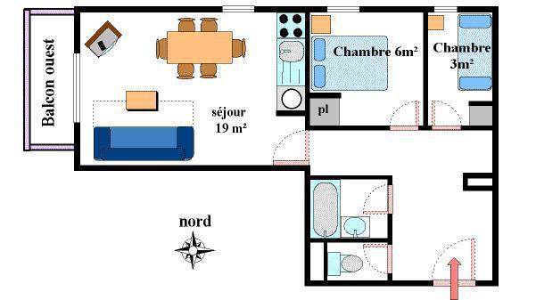 Vacances en montagne Appartement 3 pièces 6 personnes (11) - Résidence les Essarts - Val Cenis