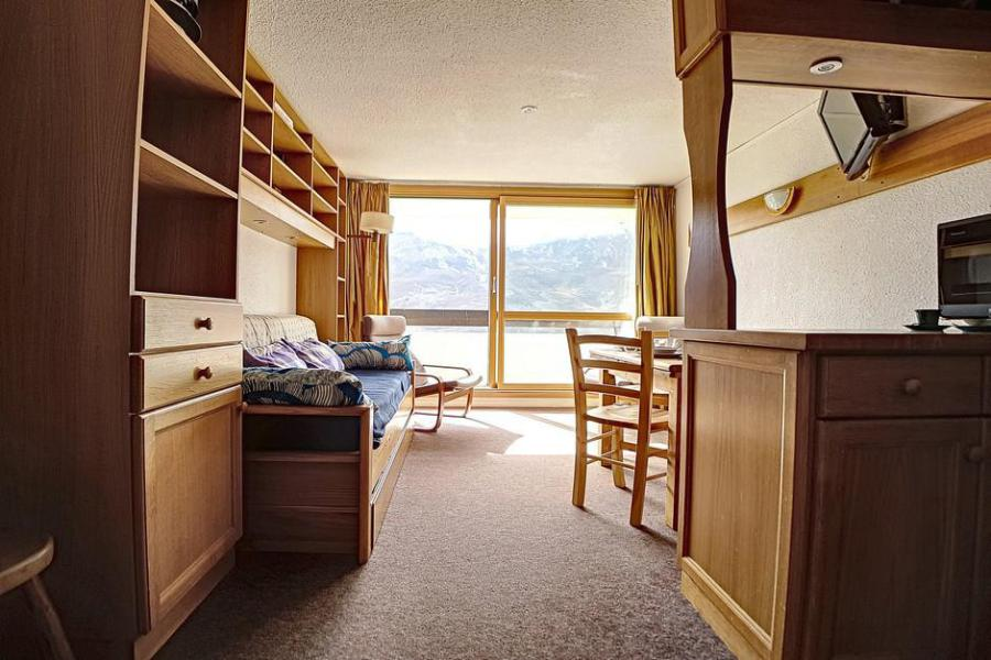 Holiday in mountain resort 2 room duplex apartment 5 people (303) - Résidence les Evons - Les Menuires - Double bed