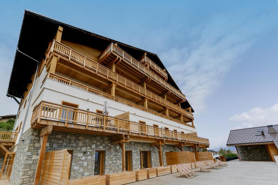 Location au ski Résidence les Fermes du Mont Blanc - Combloux - Extérieur été