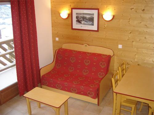 Vacances en montagne Appartement 2 pièces 4 personnes - Residence Les Flocons D'argent - Aussois - Coin séjour