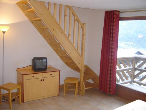 Vacances en montagne Appartement duplex 2 pièces 6 personnes - Residence Les Flocons D'argent - Aussois - Escalier