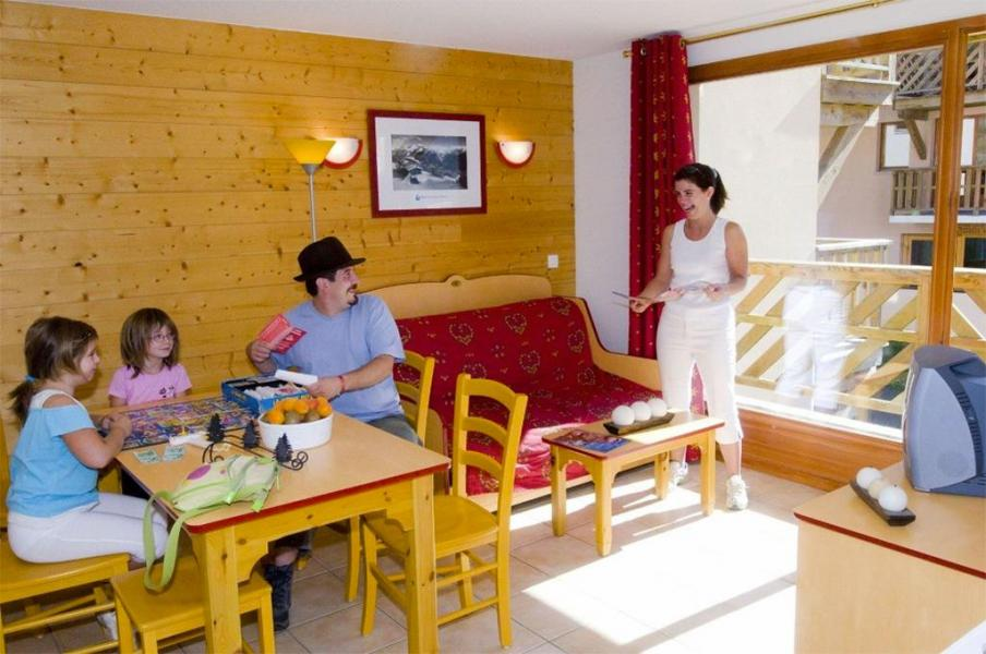 Urlaub in den Bergen Résidence les Flocons d'Argent - Aussois - Wohnzimmer