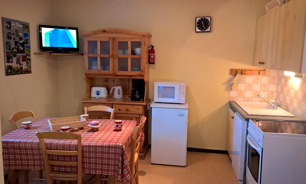 Vacaciones en montaña Apartamento cabina para 4 personas (GE09G) - Résidence les Gentianes - La Norma - Mesa