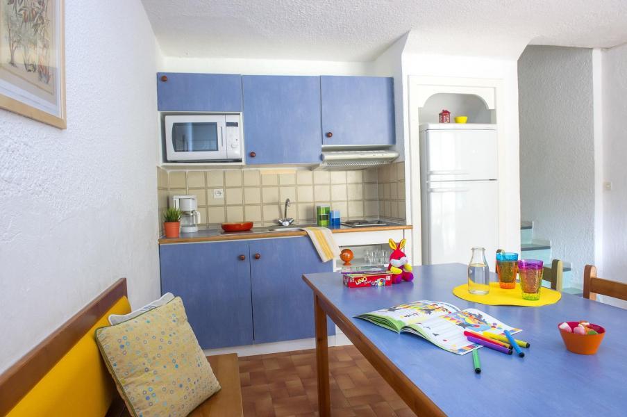 Urlaub in den Bergen Résidence les Gorges Rouges - Valberg / Beuil - Offene Küche